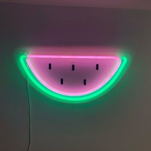 urban outfitters watermelon neon sign !!
